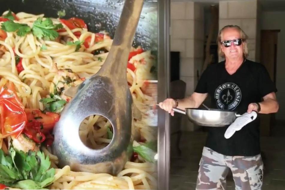 Lecker! Robert Geiss hat eine Pasta mit Tomaten und Meeresfrüchten gezaubert.