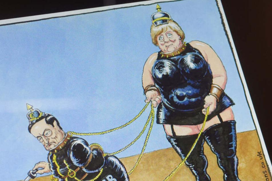 Angela Merkel als Domina: Geht das zu weit?