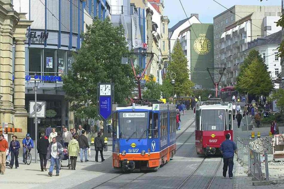 Der Postplatz in Plauen.