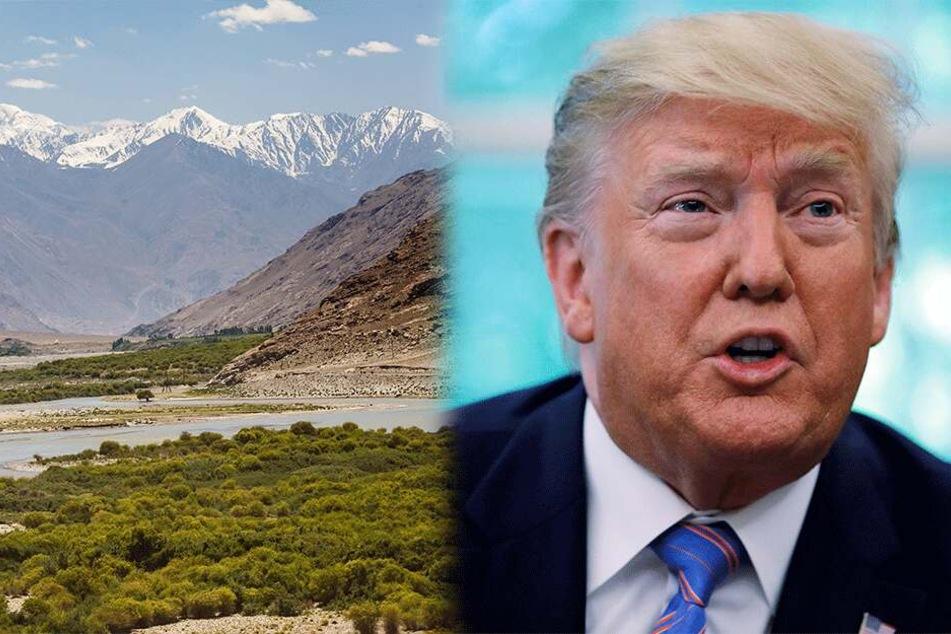 Er hat es schon wieder getan: Donald Trump lässt krasse Äußerung über Afghanistan vom Stapel