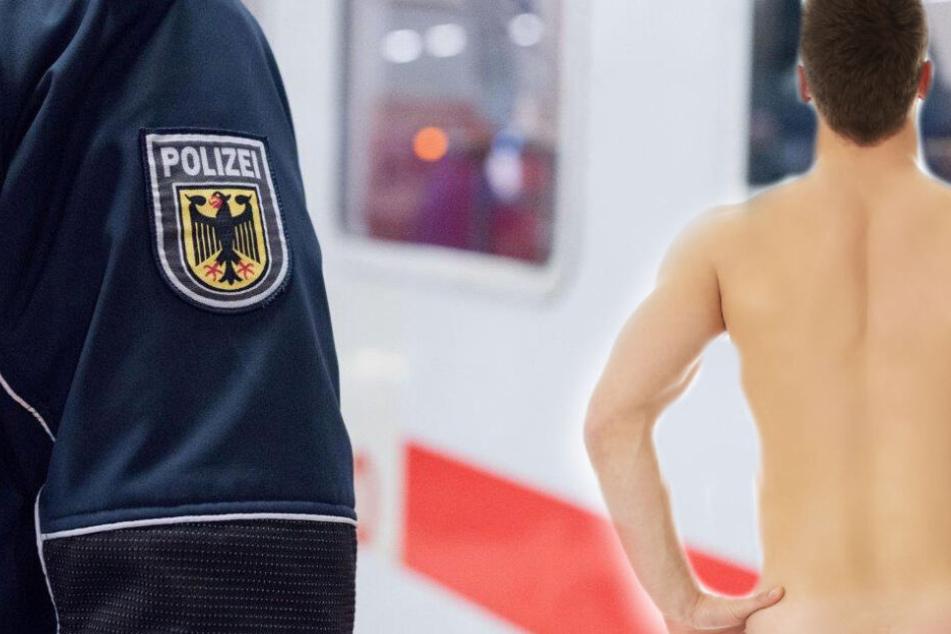 Die Bundespolizei nahm den nackten Dresdner mit. (Symbolbild)