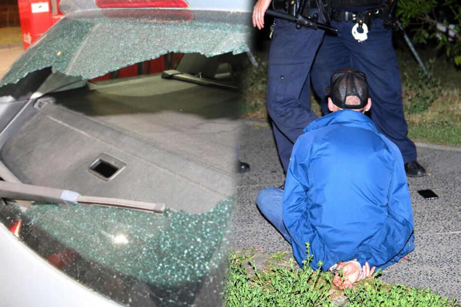 Stahlkugel-Gewitter: Ex-Mitarbeiter schießt mit Zwille auf Tanke und Familienauto