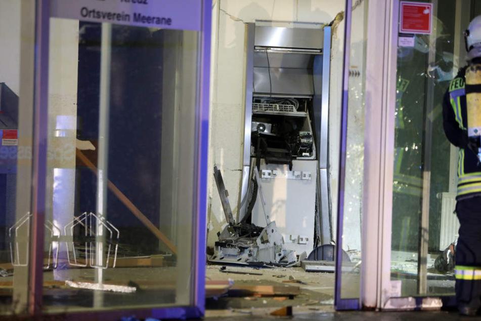 Der Automat wurde komplett zerstört.