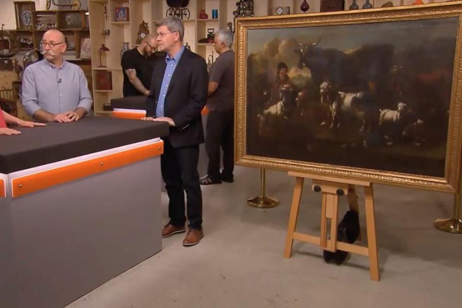 """Seriöser Auftritt: Besitzer Alexander Trautmann bot sein Gemälde bei """"Bares für Rares"""" an."""