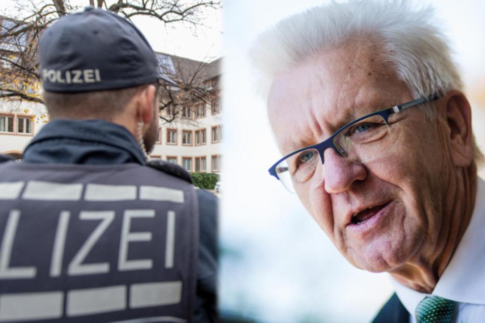 Polizisten an der Grenze: Kretschmann wegen Haushalt in der Kritik
