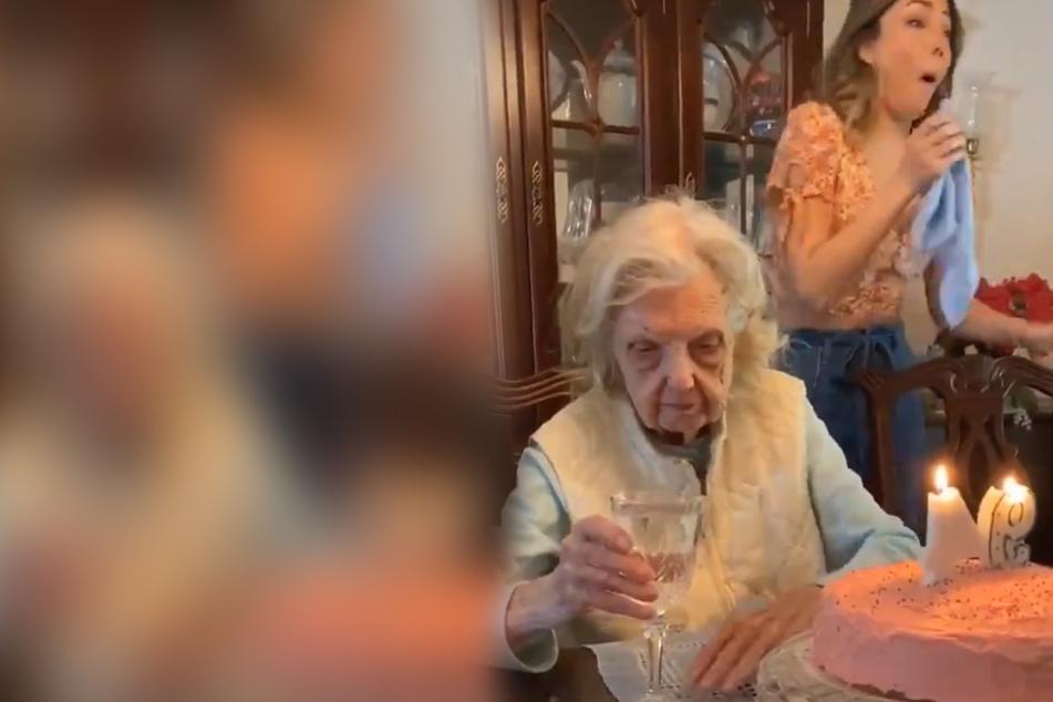 Oma (94) feiert Geburtstag: Dann hat sie was Wichtiges zu sagen