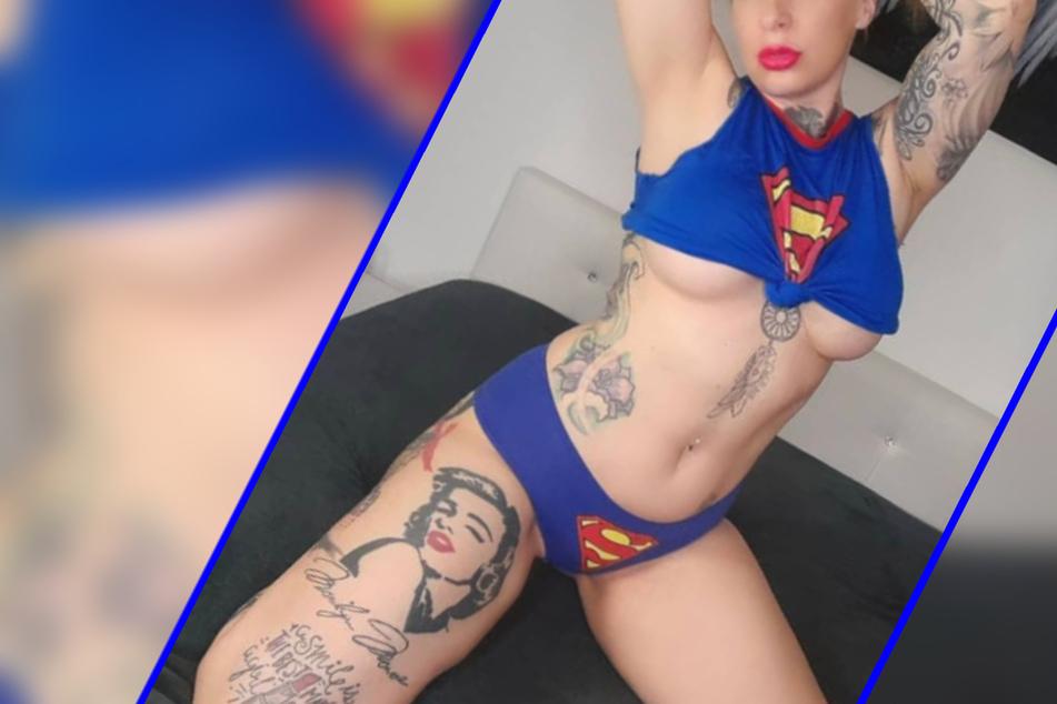 Wow! Erotik-Model macht als heißes Supergirl die Fans ganz wuschig