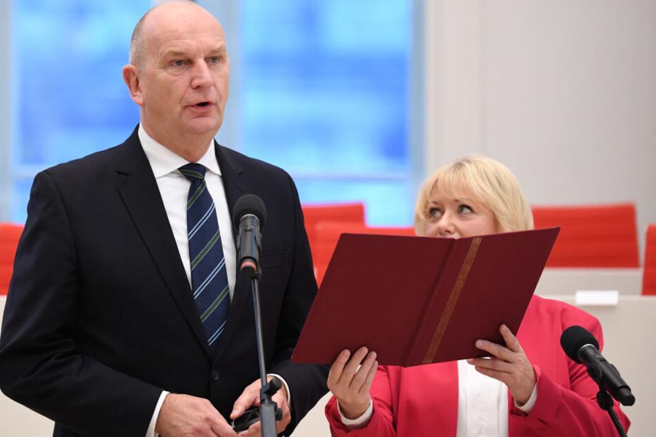 Dietmar Woidke bei seiner Vereidigung zum Ministerpräsidenten Brandenburgs.