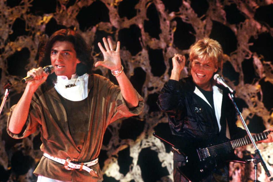 """Dieter Bohlen (rechts) bildete gemeinsam mit Thomas Anders das Duo """"Modern Talking"""". (Archivbild)"""
