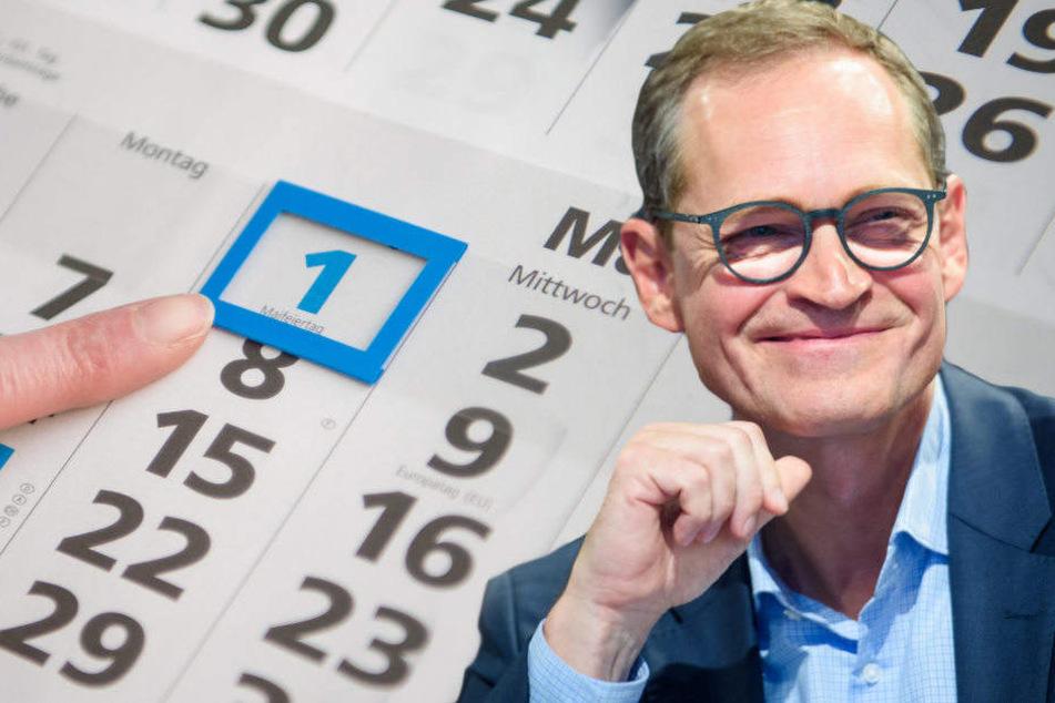 Michael Müller bevorzugt als zusätzlichen Feiertag für Berlin den 18. März.