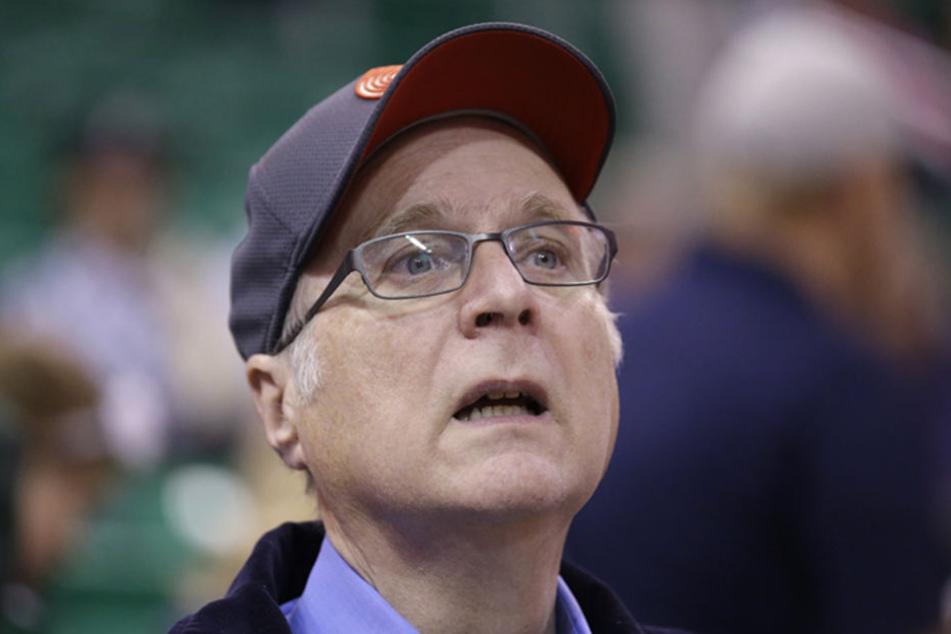 Microsoft-Mitgründer und Besitzer des Basketball-Teams Portland Trail Blazers, während eines Vorsaison-Spiels gegen Utah Jazz.