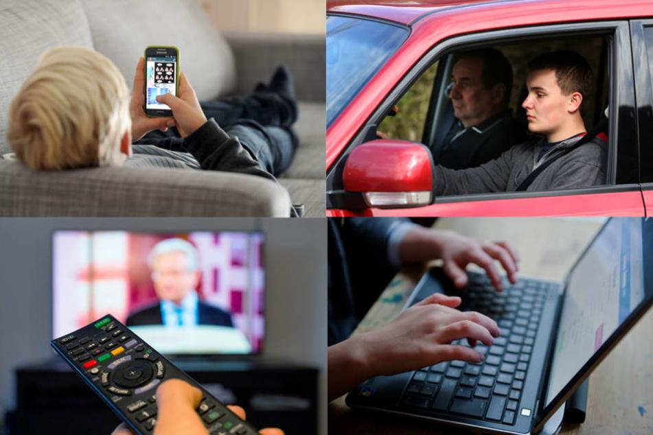 Smartphone, Auto & Co - Jugendliche stimmten ab und das TV kam überraschend schlecht weg. (Bildmontage)