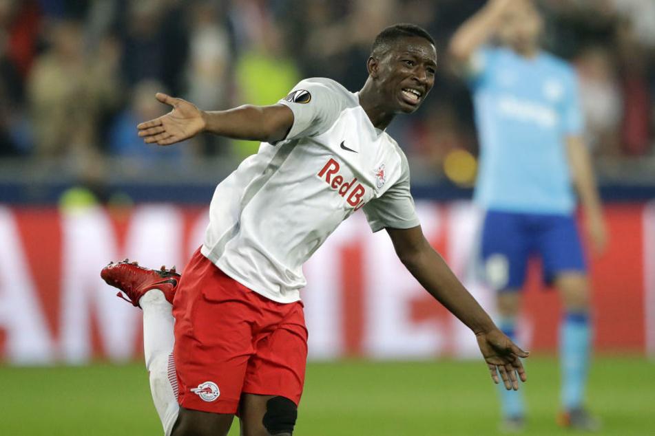 Salzburgs Amadou Haidara (20) könnte einer der drei Wunschspieler von RB Leipzig sein.