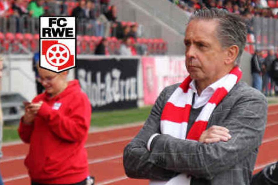 Nach zwölf Jahren kommt nun das Aus für Rolf Rombach als Präsident von Rot-Weiß Erfurt.