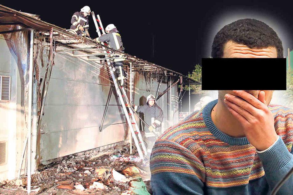 Asylbewerber soll Fabrik angezündet haben