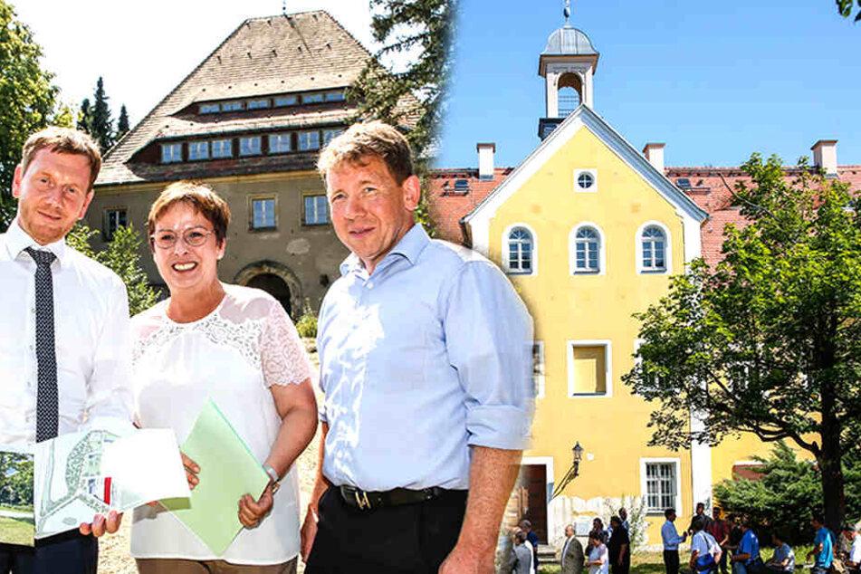 Neue Pläne für Schloß und Nazi-Villa im Tharandter Wald