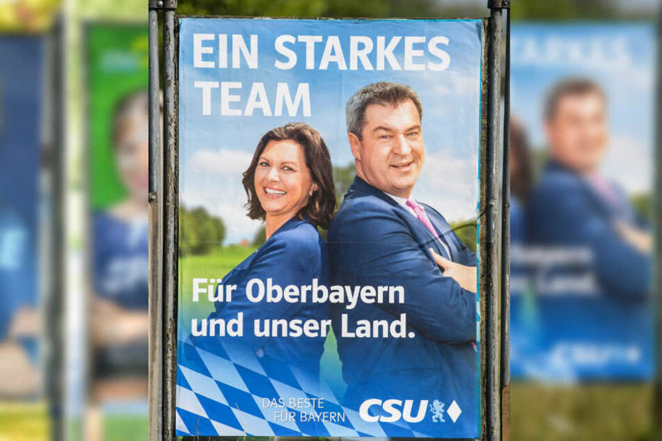 Markus Söders (CSU) Körperhaltung soll Erfolg suggerieren.