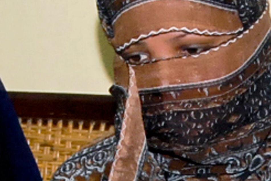 Das Archivbild zeigt die Christin, Asia Bibi, bei ihrer Anhörung in einem Gefängnis in Pakistan.