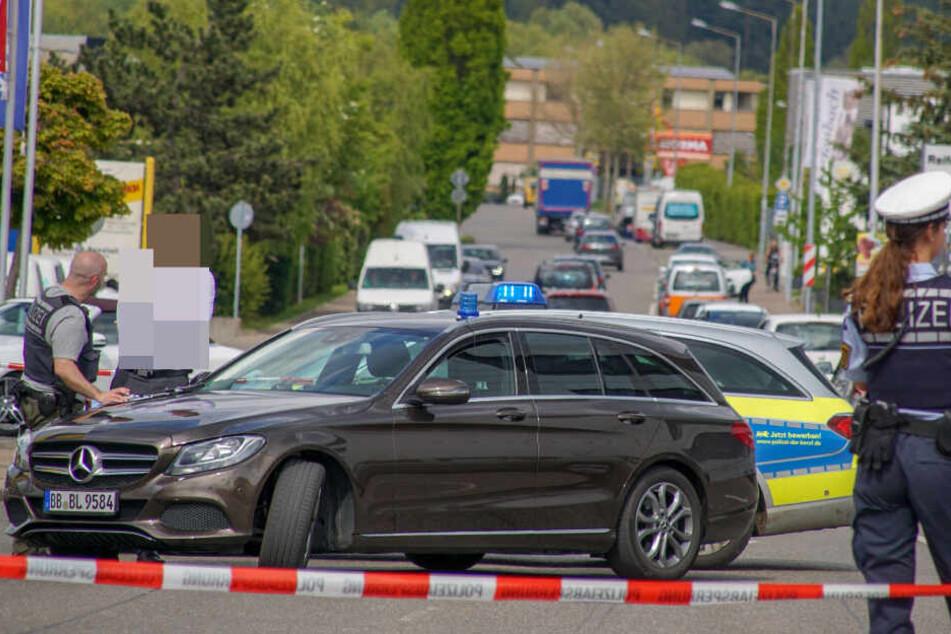 Der Tatort wurde von der Polizei abgesperrt.