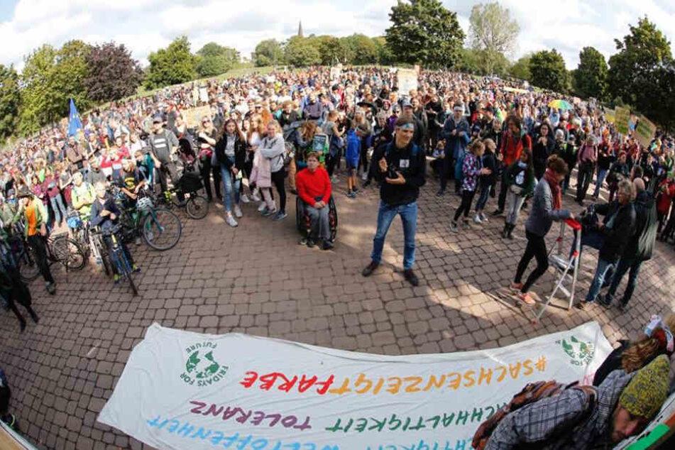 Alles fürs Klima - der dritte globale Klimastreik ist auch in Dresden in vollem Gange