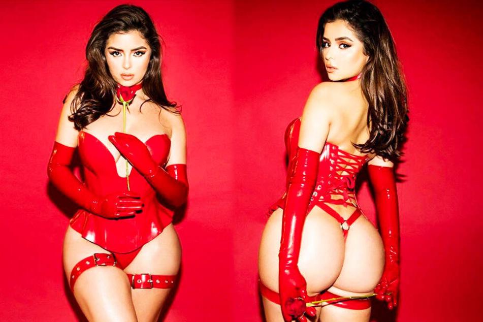 Mega-heiße rote Rose! Demi zeigt sich von ihrer erotischsten Seite