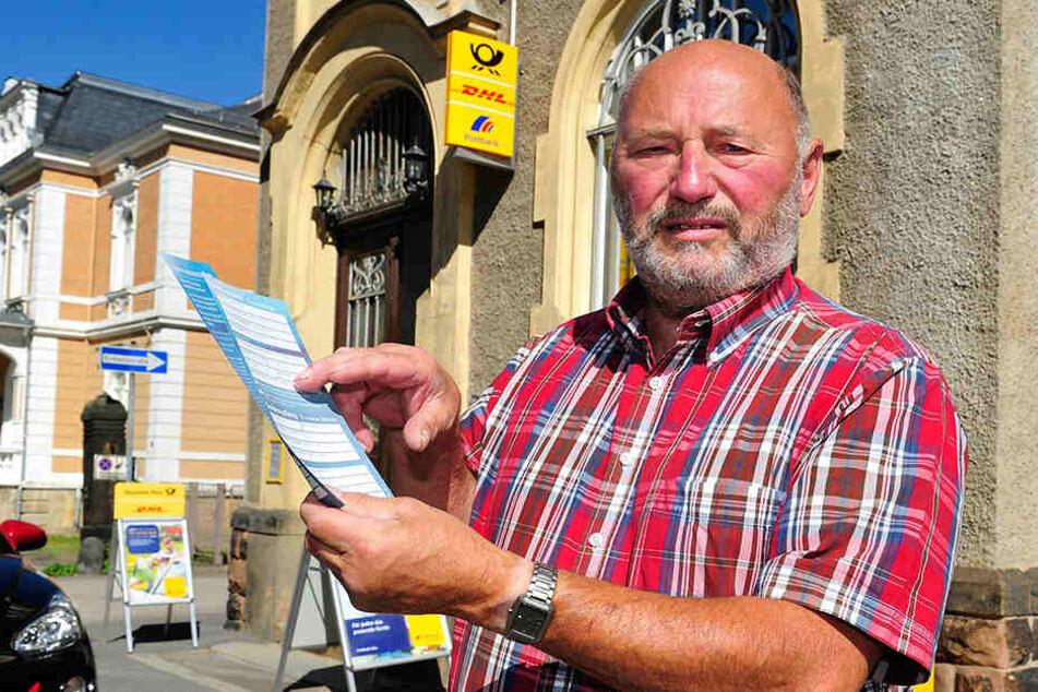 Reiner Veit (73) hätte um ein Haar 5000 Euro an die Gewinnspiel-Mafia verloren. Eine Postmitarbeiterin warnte ihn.