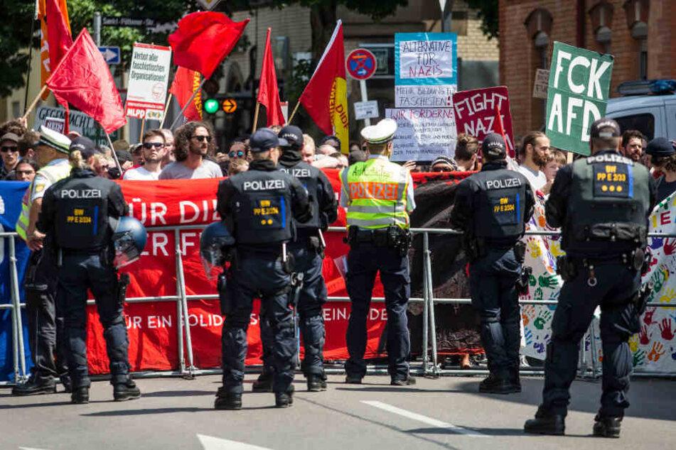 Afd Kundgebung Bei Karlsruhe Polizei Bereitet Sich Auf Gegendemo Vor