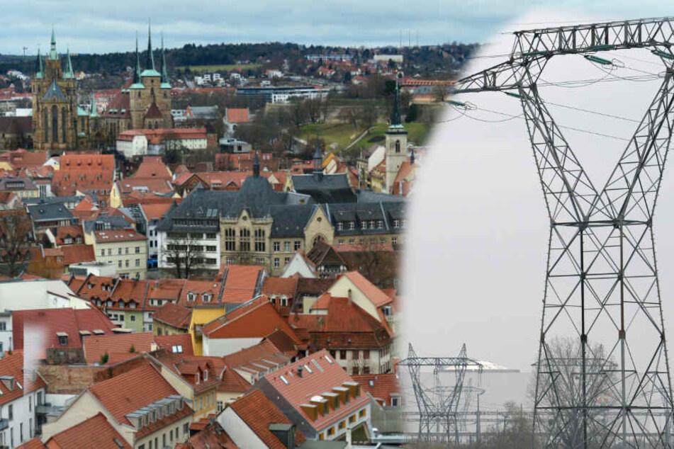 Strom gab es in Erfurts Innenstadt eine Stunde lang nicht mehr.