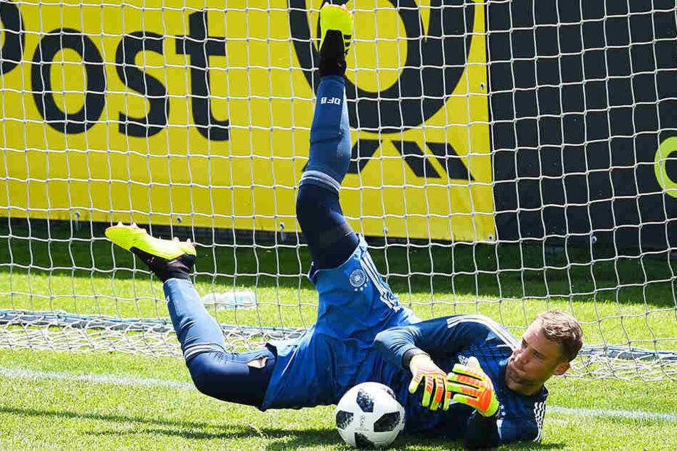 Manuel Neuer hütete am Mittwoch 70 Minuten das Tor der U20-Nationalmannschaft.