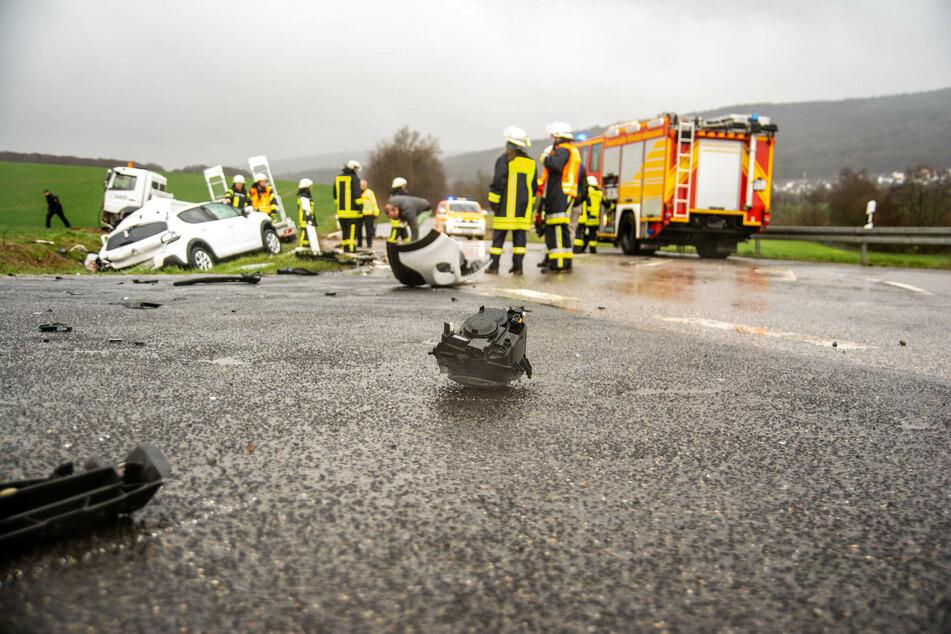 Der Unfall ereignete sich auf der L3026 zwischen Idstein und Niedernhausen.