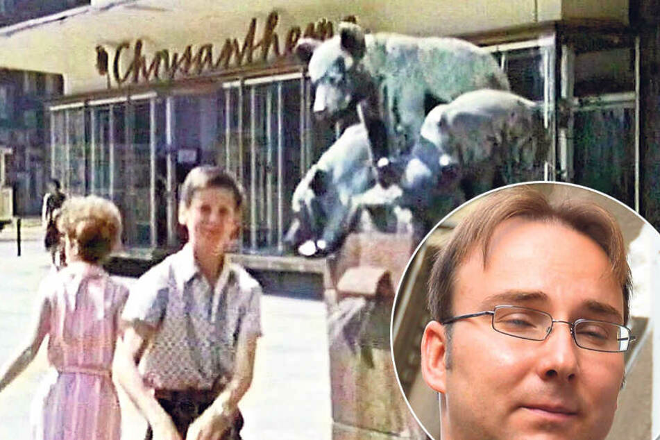 Sandro Schmalfuß (39) will eine Online-Petition für den Brunnen starten. Einst stand der Bärenbrunnen in  der Theaterstraße vor dem Sporthochhaus.