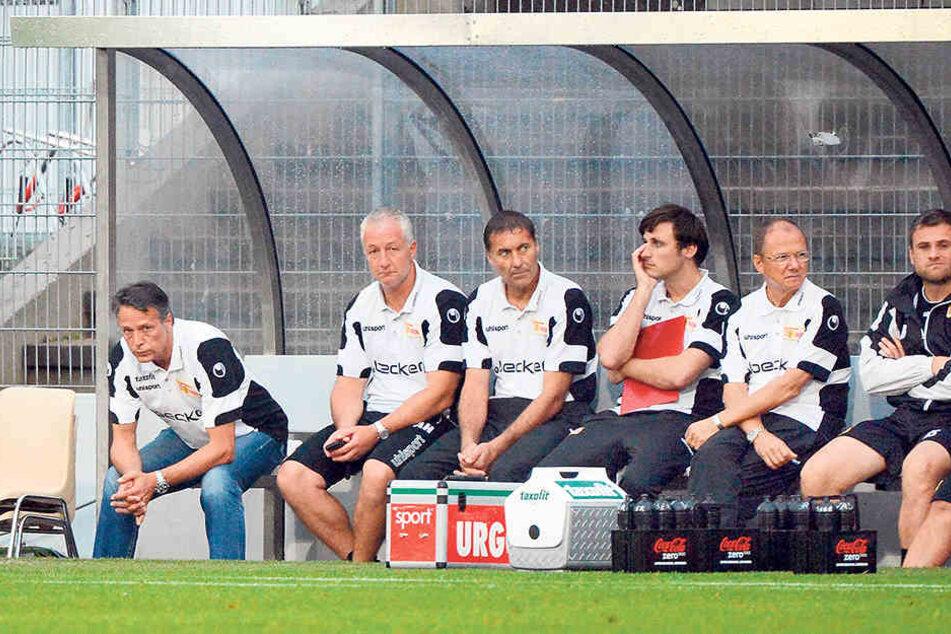 Im August 2012 kassierte Uwe Neuhaus (l.) mit Union eine 0:2-Pleite in  Sandhausen.