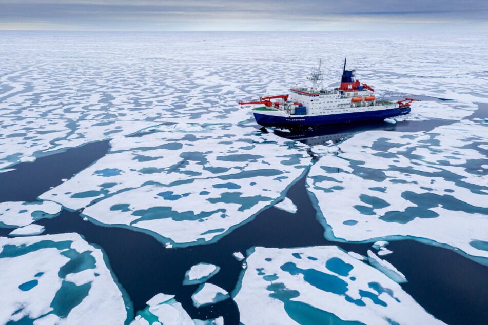 """Das Forschungsschiff """"Polarstern"""" war über ein Jahr in der Arktis unterwegs."""
