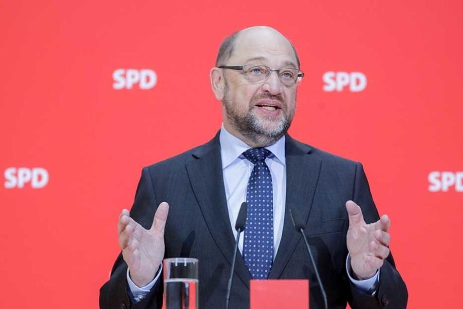 Der SPD-Vorsitzende Martin Schulz bleibt bei seiner Absage an die große Koalition.