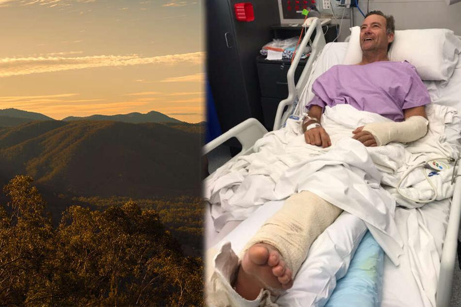 Die Region um den Mount Nebo, hier verletzte sich Neil Parker schwer.