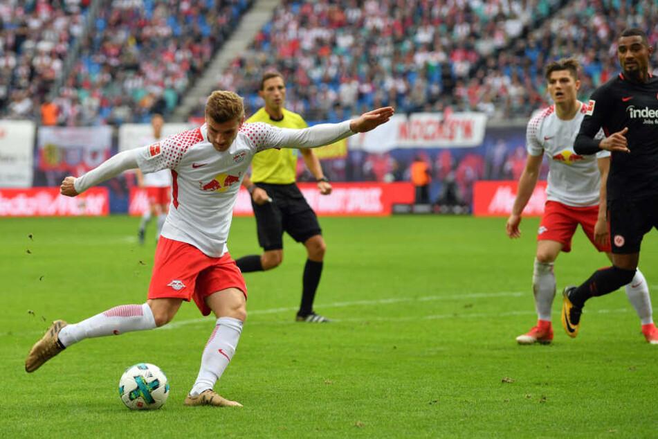 Timo Werner traf aus der Drehung zum 2:0. Sabitzer und Boateng können nur staunend zuschauen.