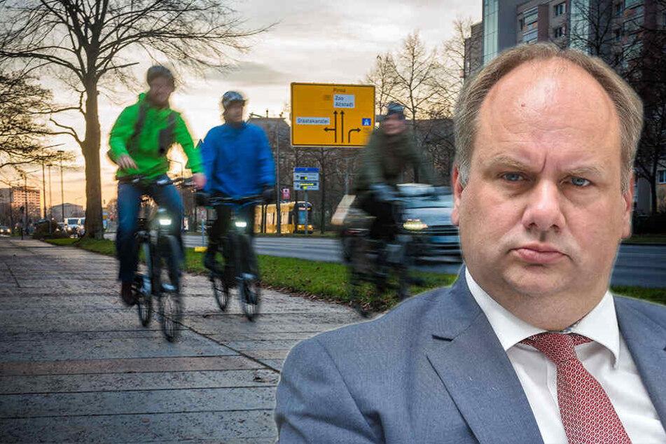 OB Hilbert kassiert Ratsbeschluss: Bekommt Albertstraße jetzt doch Radweg?