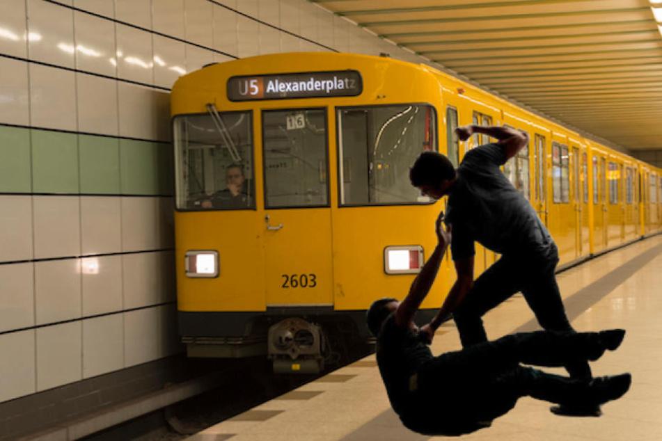 Bei der Schlägerei stürzten die Männer ins Gleisbett vor die U5. (Symbolbild)