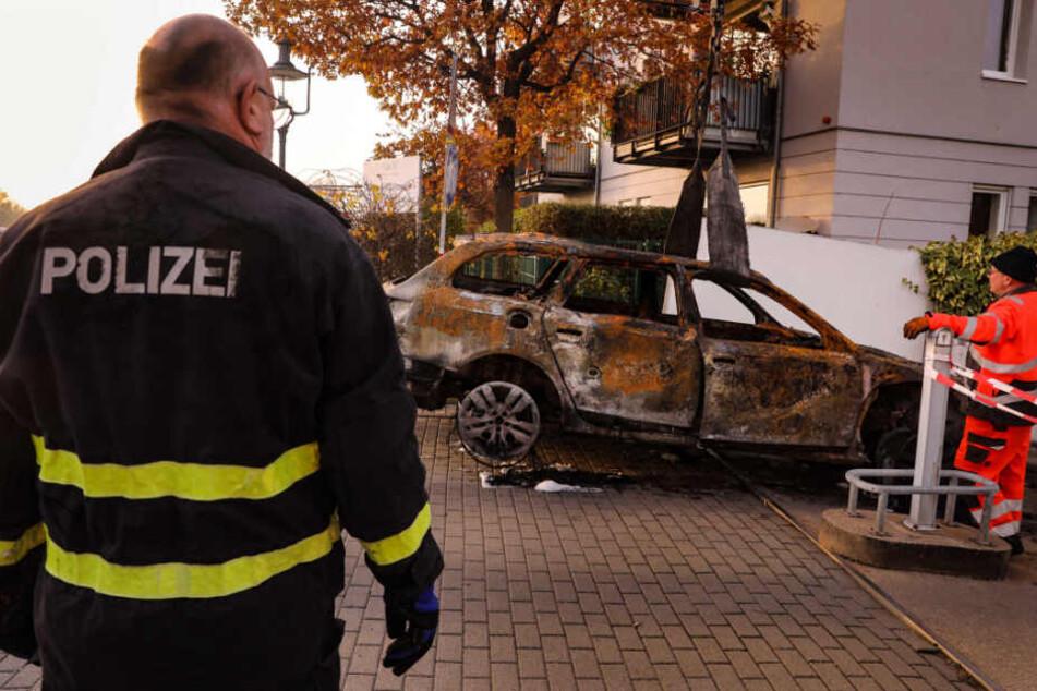 Nach Raub im Grünen Gewölbe: Ist das der ausgebrannte Fluchtwagen?