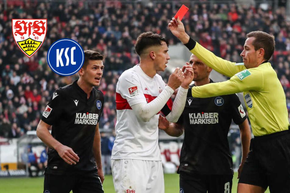 """VfB-Kicker Kempf sieht Rot beim Derby gegen KSC: """"Mir sind da nicht die Sicherungen durchgebrannt"""""""