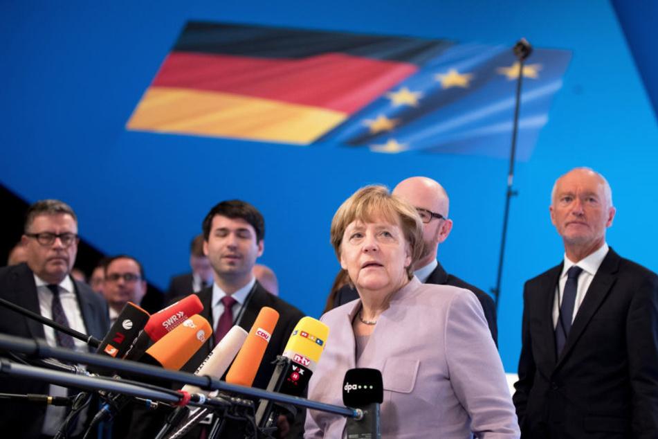 Angela Merkel (62) beim CDU-Parteitag in Essen.