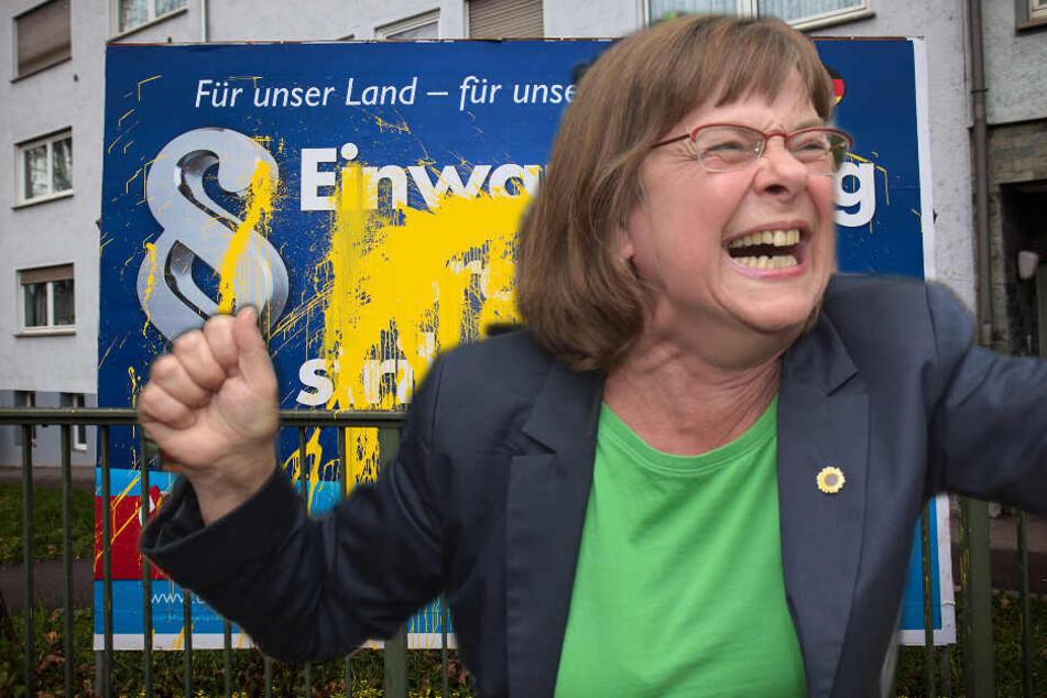 Riesen-Stunk um kaputte AfD-Wahlplakate: Die Grünen im Visier der Polizei