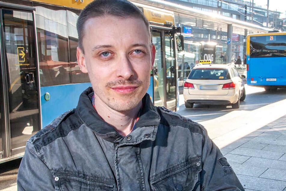 """CVAG-Fahrgastsprecher Andy Olasz (40) nennt die aktuelle Situation """"eine Katastrophe""""."""