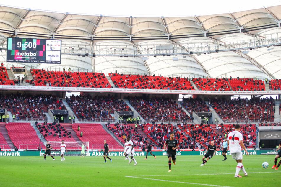 Beim Heimspiel gegen Leverkusen waren noch 9500 Zuschauer im Stadion.