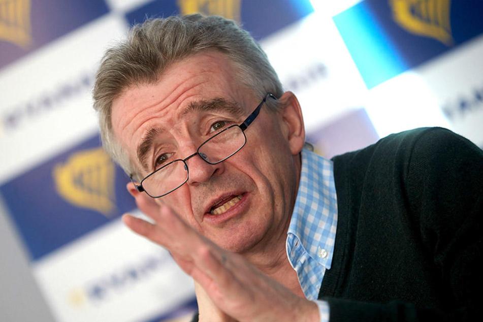 Michael O'Leary, CEO des irischen Billigflug-Anbieters Ryanair, kämpft für den Weiterbetrieb des City Airports.