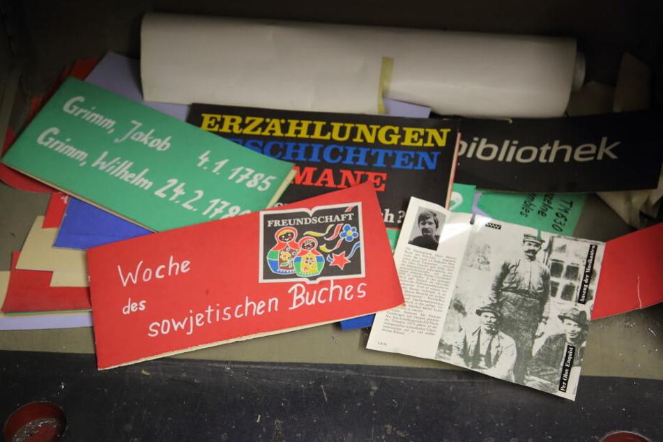 Ganz unten im Panzerschrank lagerten 25 Jahre lang alte Bibliotheks-Relikte.