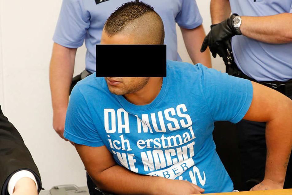 Richard B. (20) am Dienstag im Landgericht Chemnitz.
