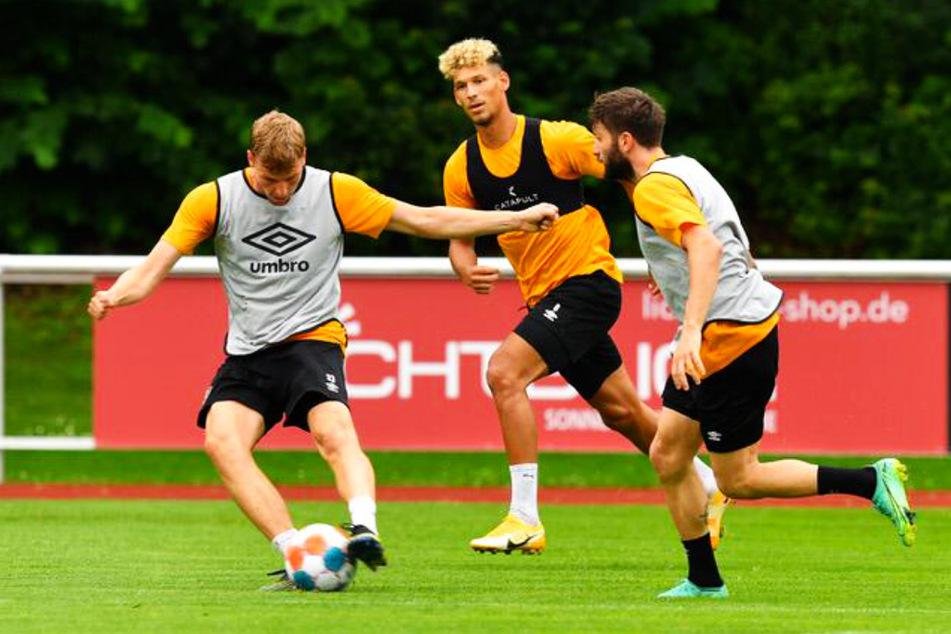 Christoph Daferner (l.), Heinz Mörschel (M.) und Neuzugang Brandon Borrello gingen mit vollem Einsatz zur Sache!