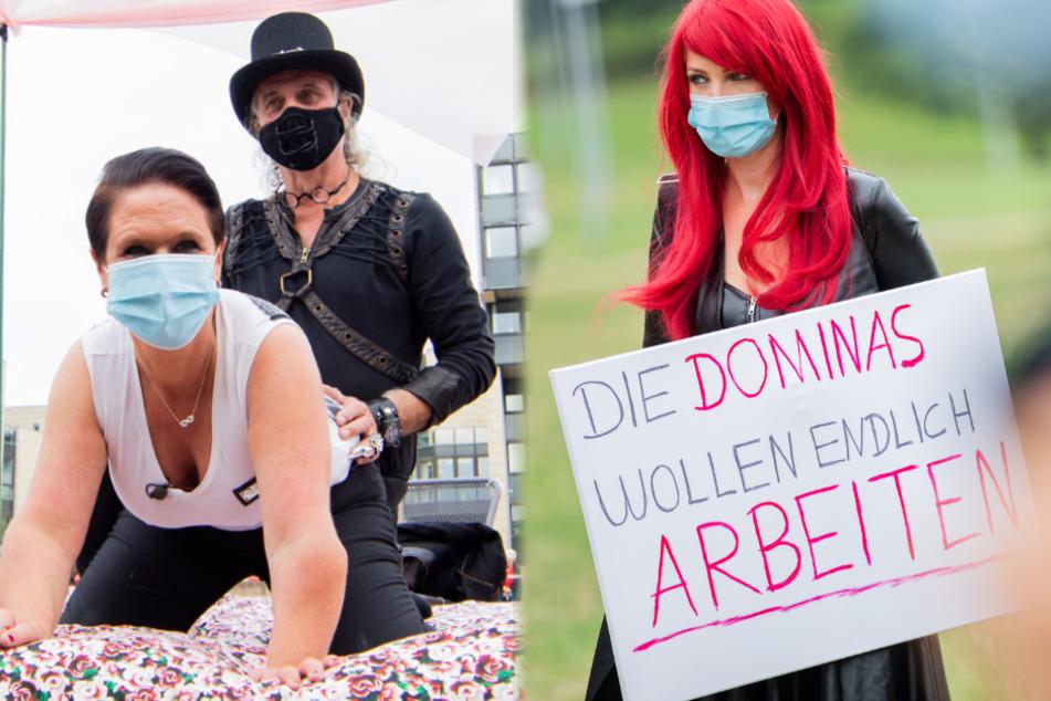"""Sexarbeiterinnen demonstrieren am Landtag: """"Öffnet die Bordelle!"""""""