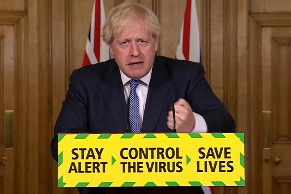 Boris Johnson, Premierminister von Großbritannien, spricht bei einer Pressekonferenz in der Downing Street.